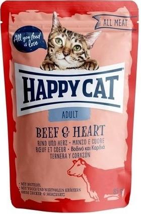Happy Cat Kapsička ALL MEAT Adult Rind & Herz 85 g