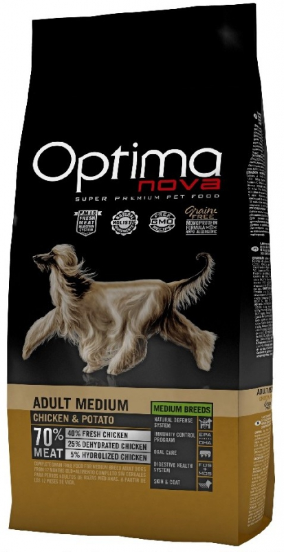 OPTIMAnova dog ADULT LARGE GF Chicken 12kg