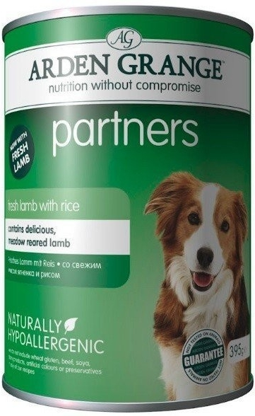 Arden Grange Dog Partners Dog Lamb Rice 395 g