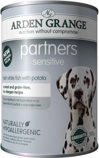 Arden Grange Dog Partners Sensitive Fresh White Fish with Potato 395 g