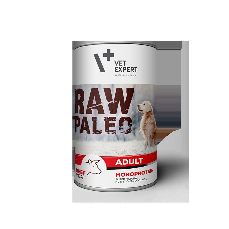 Konzerva pro psy RAW PALEO Adult BEEF 400g