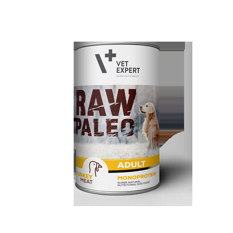 Konzerva pro psy RAW PALEO Adult Turkey 400g