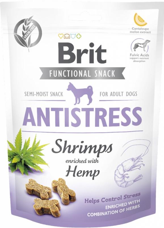 Brit snack Antistress shrimps & hemp 150 g