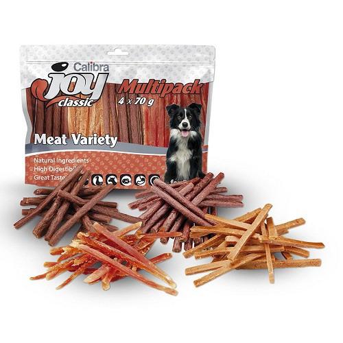 CALIBRA JOY DOG MULTIPACK 4X70G MEAT VARIETY MIX NEW/12KS