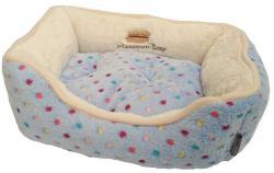 Pelíšek s puntíky Extra soft Bed S 61cm-modrá