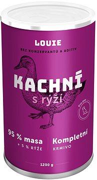 Louie konzerva pro psy kachní s rýží 1200 g