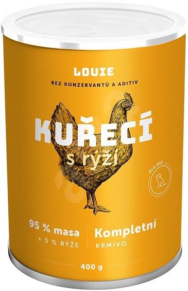 Louie konzerva pro psy kuřecí s rýží 400g