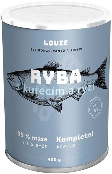 Louie konzerva pro psy ryba s kuřecím a rýží 400 g