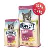 HappyCat Minkas Sterilised Geflügel 10 kg + 1,5 kg