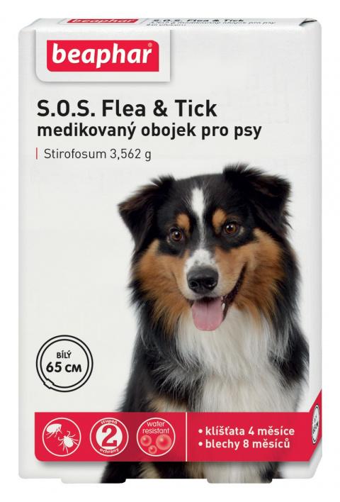 Antiparazitní obojek pro psy Beaphar SOS 65cm