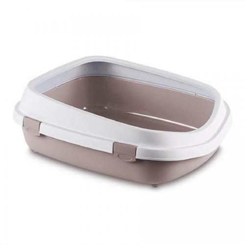 Toaleta - Queen 54x71x24,5cm bílá/růžová
