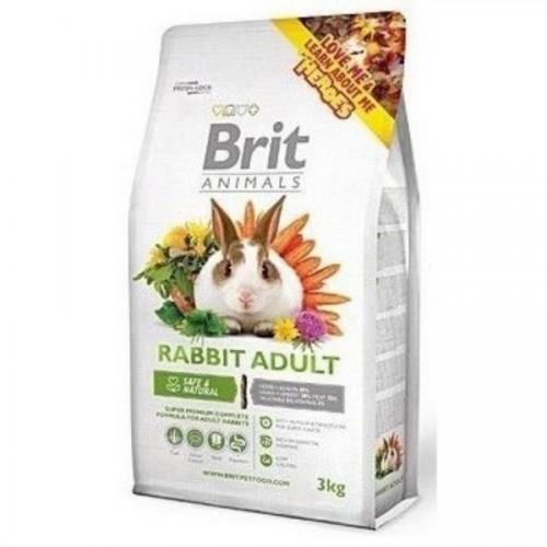 Brit animals 3,0kg králík adult complete