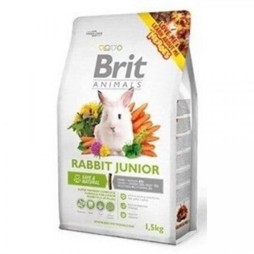 Brit animals 1,5kg králík junior complete