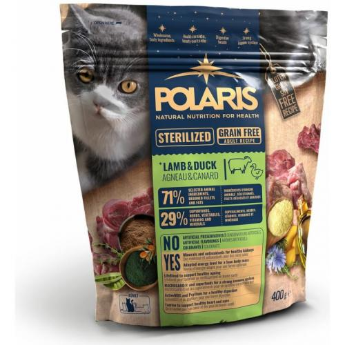 Polaris FM GF kočka Adult steril jehně,kachna 400g