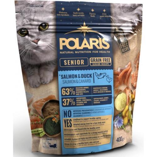 Polaris FM GF kočka Senior losos,kachna 400g