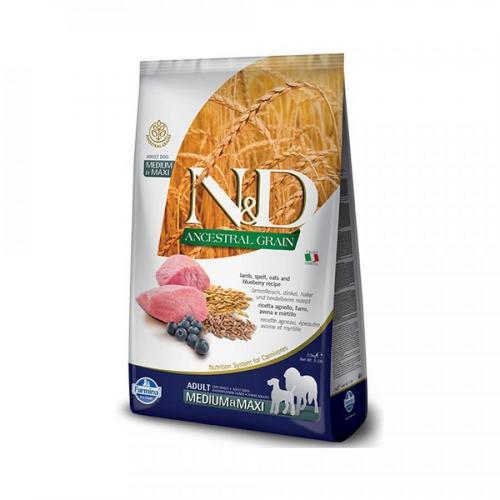 N&D LG DOG Adult M/L Lamb & Blueberry 12kg